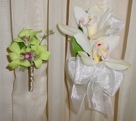 Boutonniere and Wrist Corsage