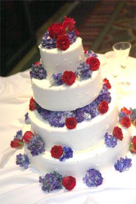 Affordable Wedding Cake Flowers