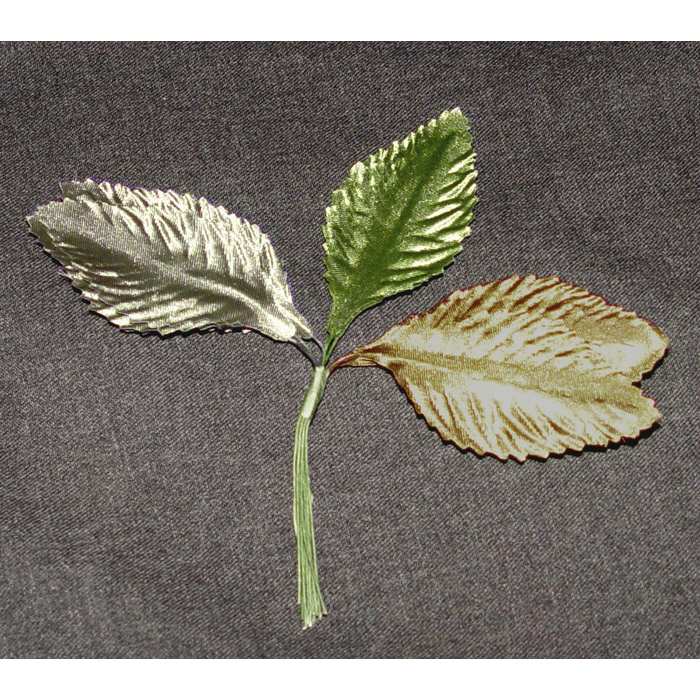 Fashion leaves accents in 3 colors, Silver, Gold, Green