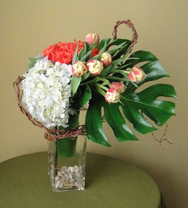 Hydrangea, Roses, Tulips, Curly Willow and more