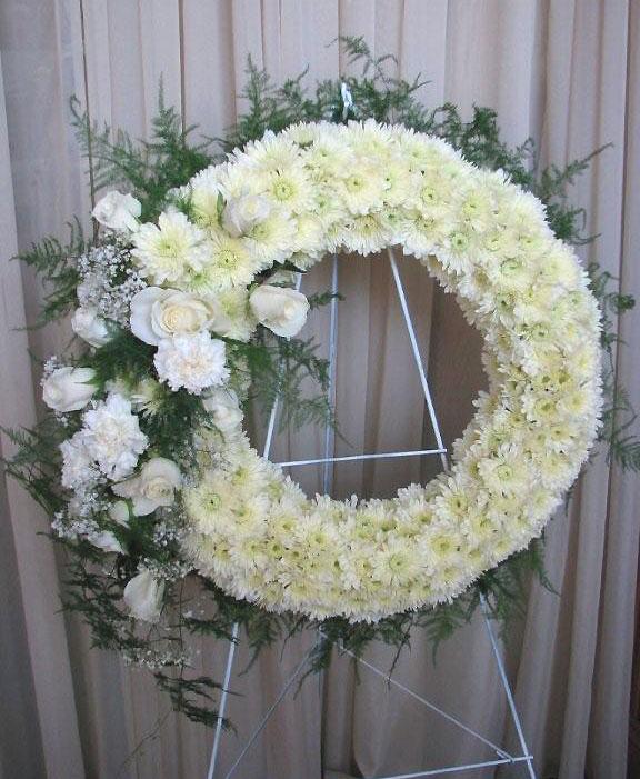 Gerber Daisies, Roses, Carnations Sympathy Floral Arrangements