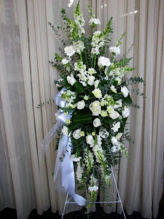 Ti Leaves, Roses & Daisies Sympathy Floral Arrangements