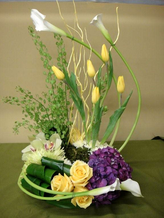 Sympathy Floral Arrangements Orchids, Tulips, Calla Lilies and more