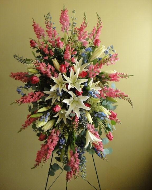 Oriental Lilies & Roses Spray