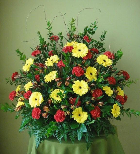 Carnations & Gerber Daisies w/ Branches and more