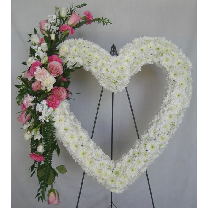 Sympathy Arrangement - Daisies, Roses & Carnations