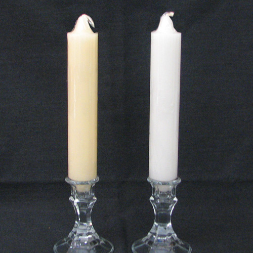 Club Candles White & Ivory