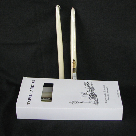 "11.5"" Ivory Taper Candles"