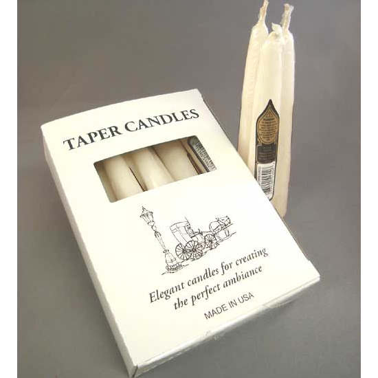"5.5"" Ivory, taper candles"