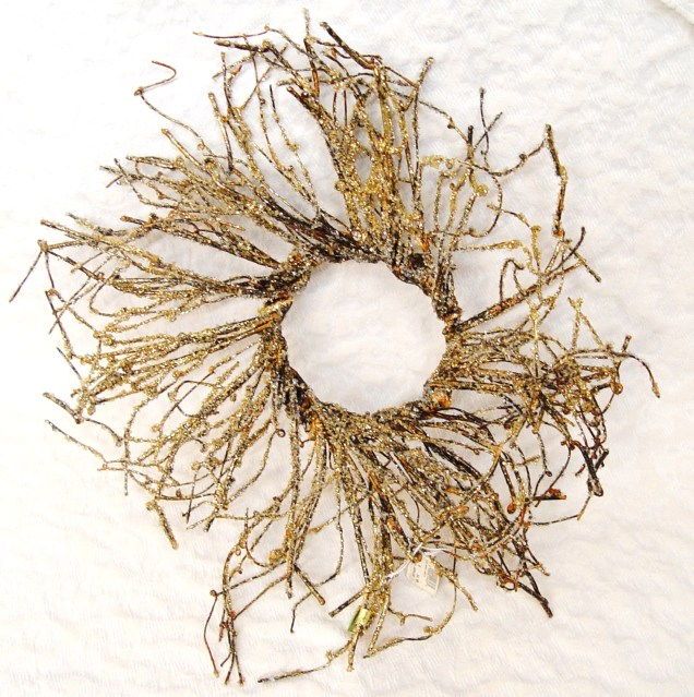 Gold Iced Branch Wreath
