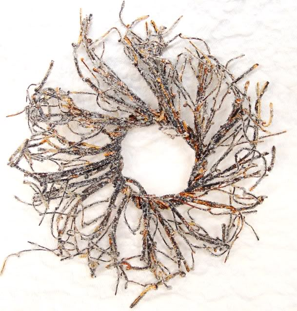 Natural Iced Branch Wreath