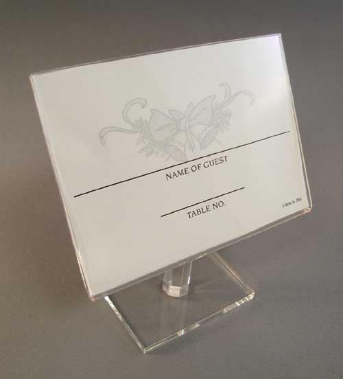 Acrylic Place holder