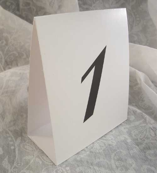 Table number tent