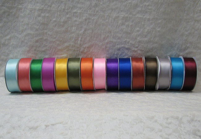 Single Faced Satin Ribbon 1.5 in x 25 yards