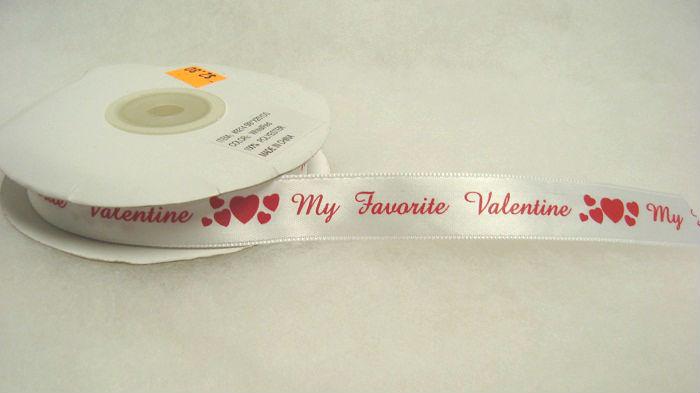 """5/8"""" Polyester Valentines Ribbon"""