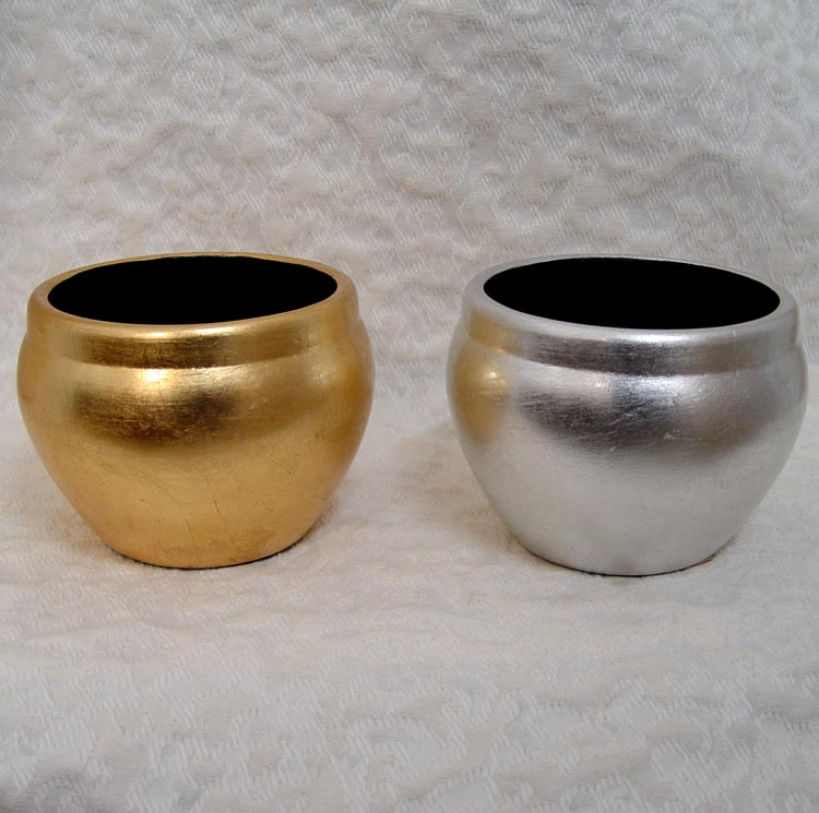Gold/Silver Tapered Planters