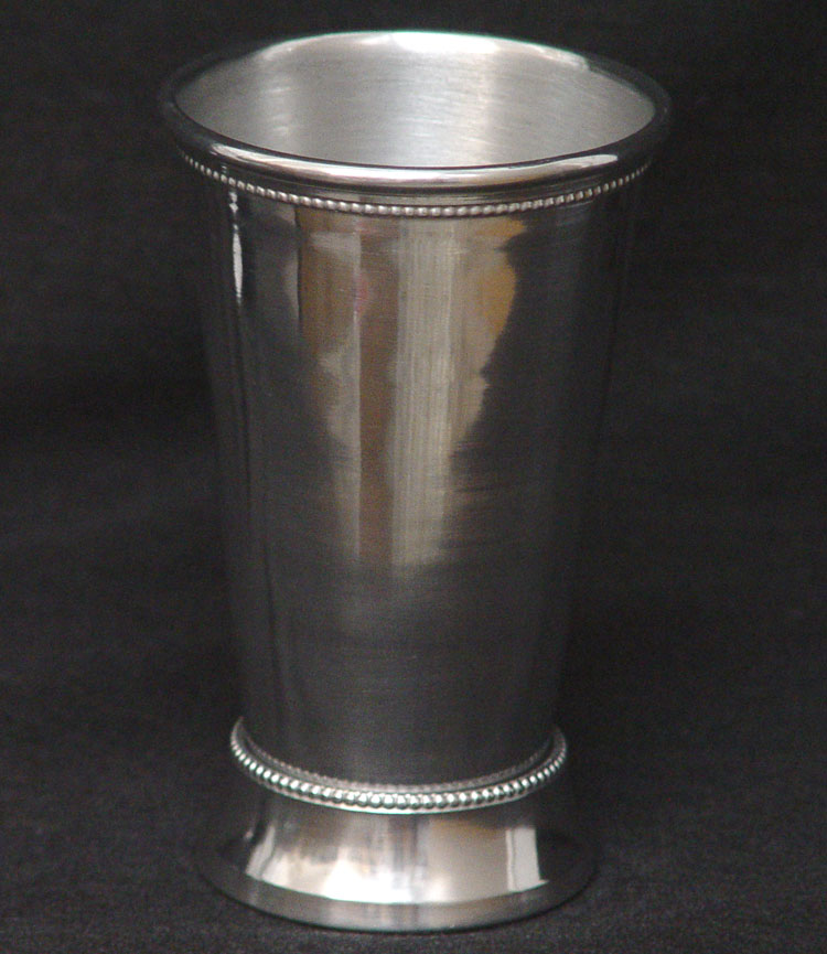Tall silver mint julep cup vase silver plated