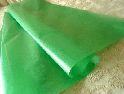 Green Wax Tissue Sheets