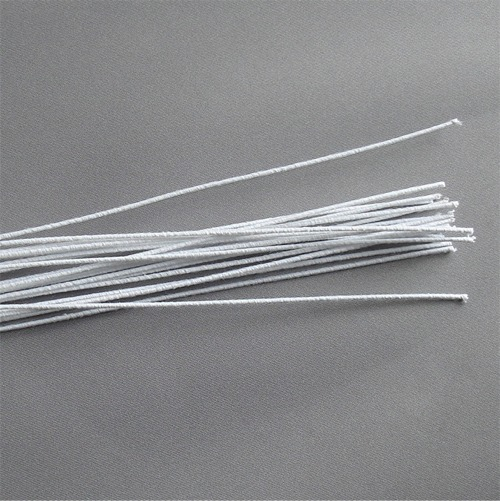 White Cloth Stem Wire